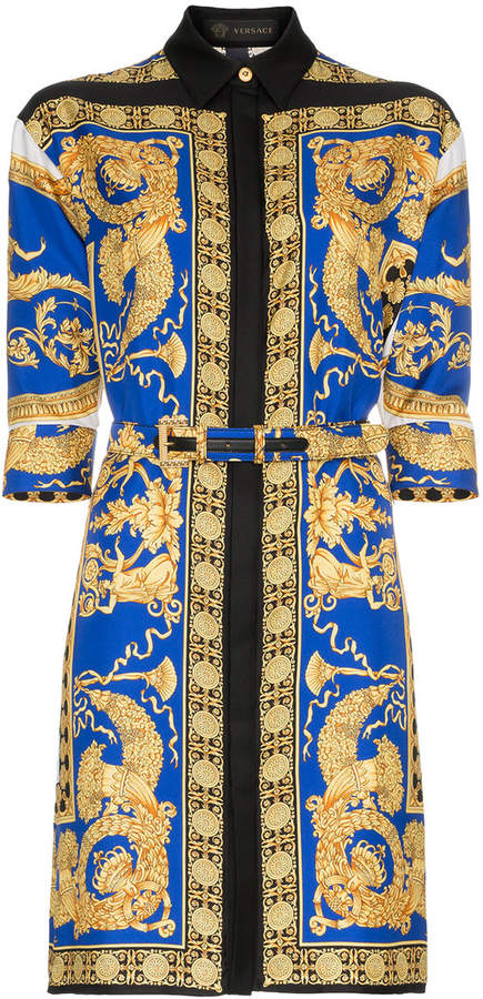 charlas de con de seda de Versace estampado Camisa 6XTPAfw