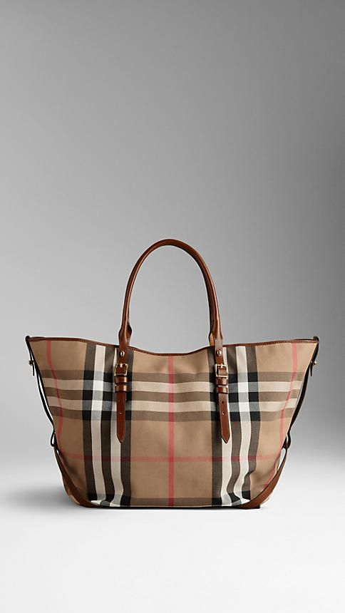 Borsa tote House check media con motivo a briglia | Burberry