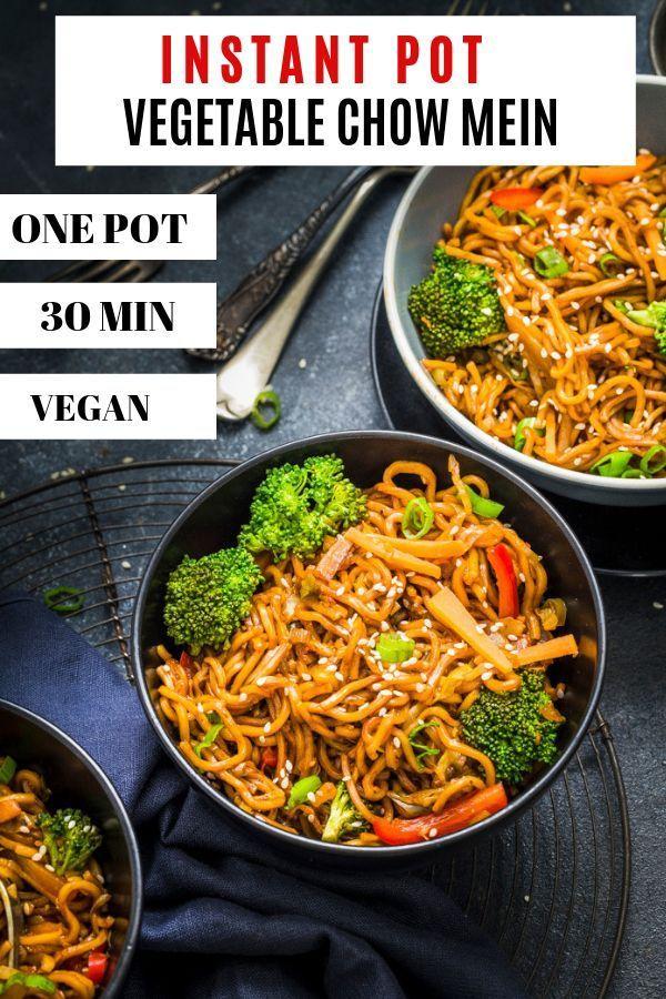 instant pot vegetable chow mein noodles | recipe