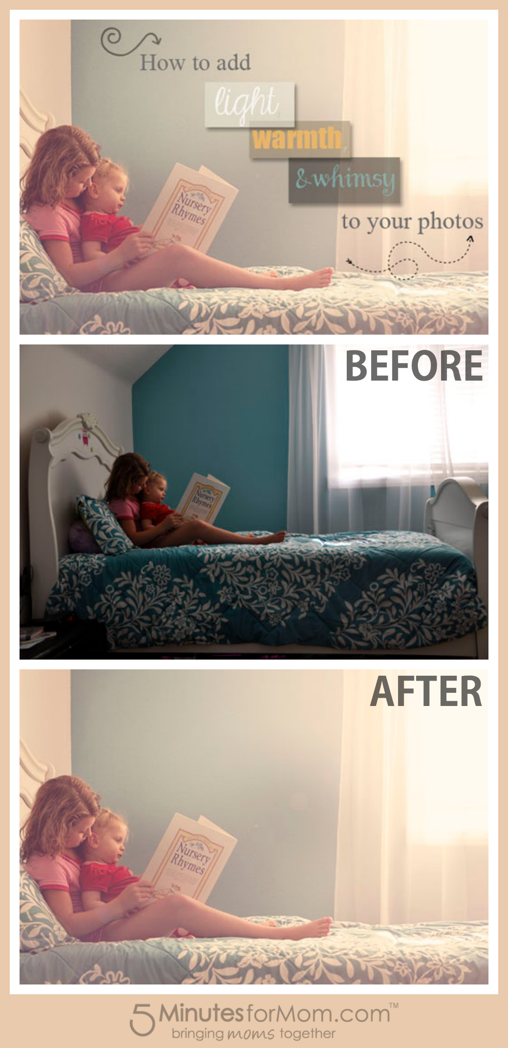 Photoshop tutorial how to add light and warmth photography how to add light warmth and whimsy to your photos photography tutorial baditri Image collections