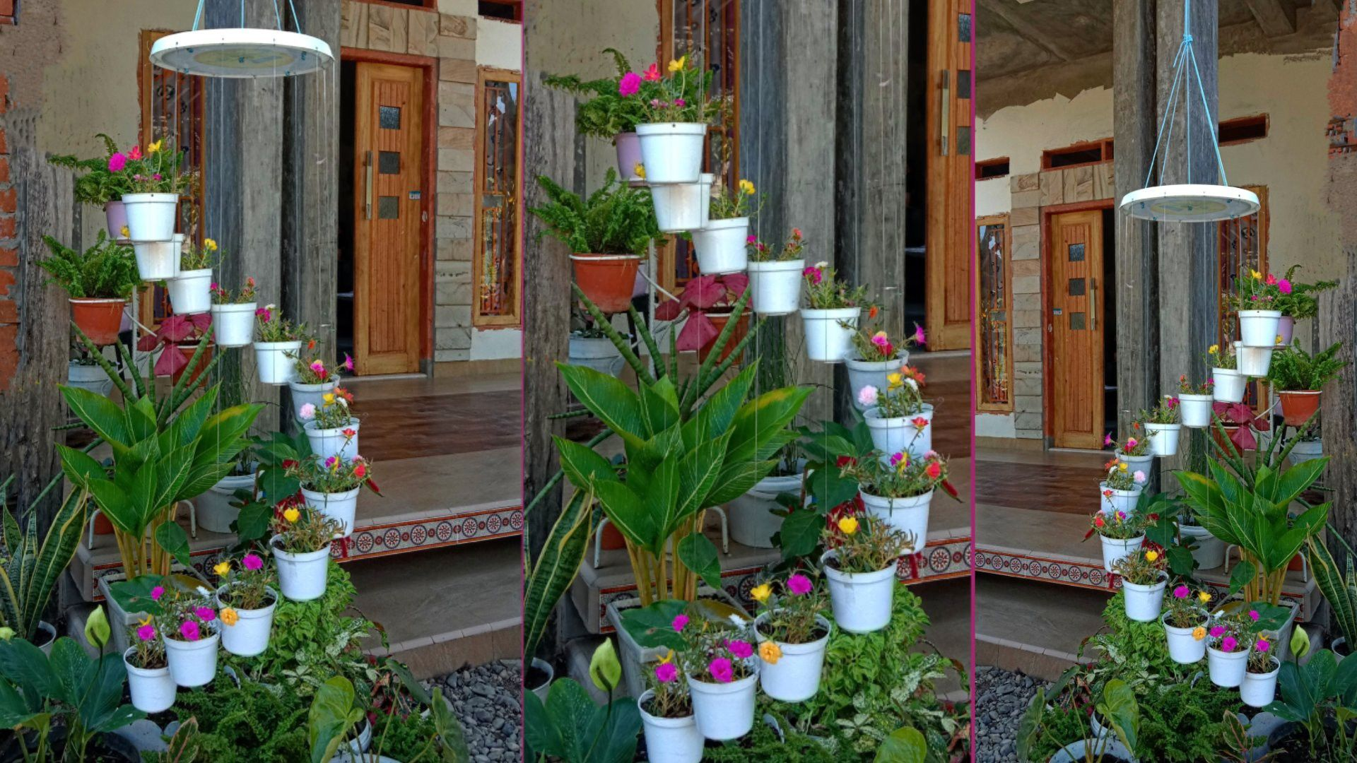 Cara Membuat Pot Gantung Spiral Unik Bunga Gantung Taman Hias Bergoyang Make A Spiral Hanging Pot Dekorasi Tanaman Bunga Gantung Ide Taman Depan