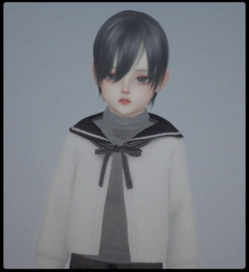 Photo of Toddler Little Prince Anime Hair for The Sims 4