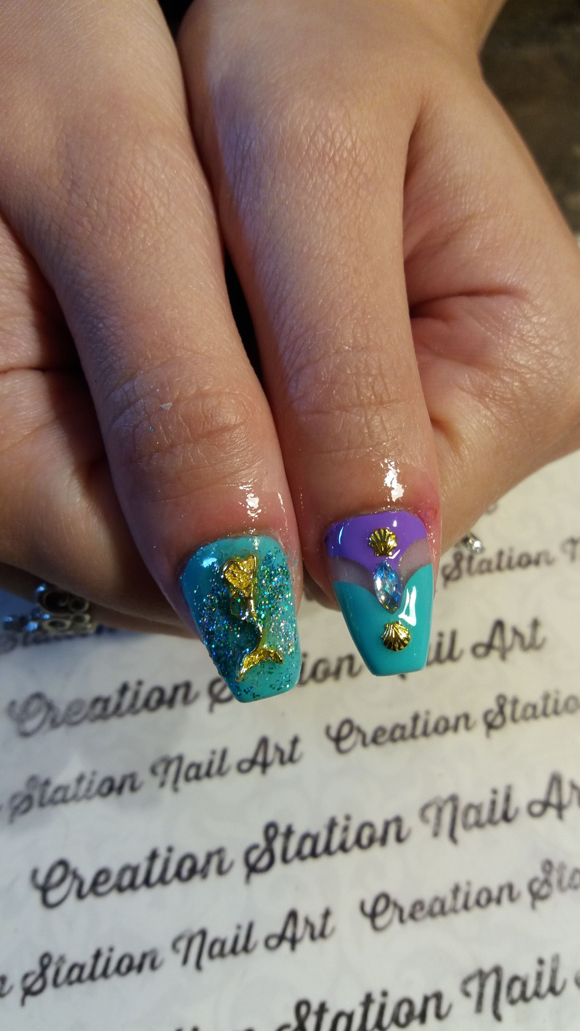 Pin By Rita Loves Nail Art On Almond Stiletto Coffin Shaped Nails