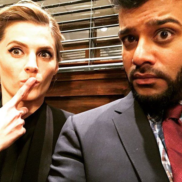 "sunkrishbala ""These are our crime-solving faces. Me and this lovely get some shit done on CASTLE tonight on ABC! Watch!"""