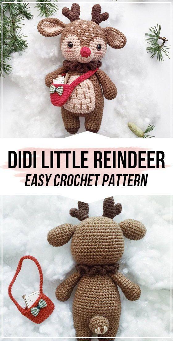 crochet Didi the Little Reindeer pattern