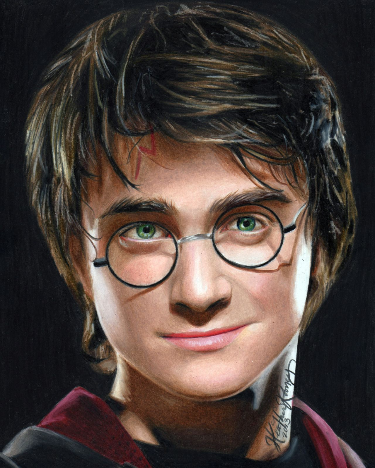Colored Pencil Drawing Of Harry Potter