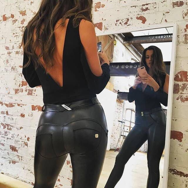 Leggings Shiny Leather Latex Blackmilk Sexy Perfect -4852