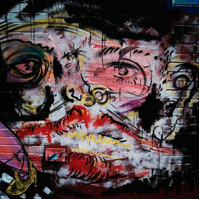 A Bolt of Blue - Williamsburg, Brooklyn street artA Bolt of Blue - Williamsburg, Brooklyn street art