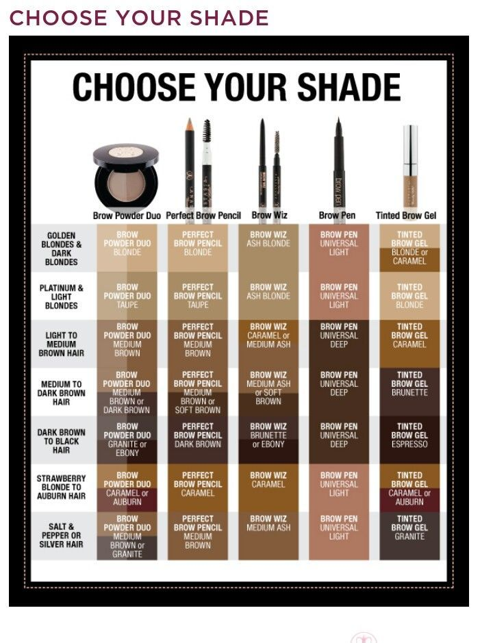 How To Match My Brow Color Anastasia Google Search Face Paint