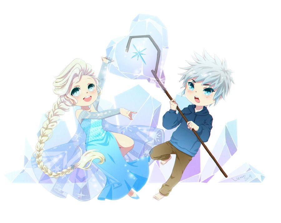 Fanart: Elsa x Jack by LieNai on deviantART | Frozen's Elsa and Rise of the Guardians' Jack Frost