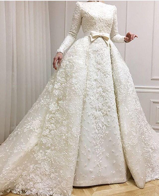 My Wedding Dress Pakaian Pernikahan Gaun Pengantin Hijab Gaun Pengantin Sederhana
