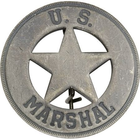 Badges of the Old West 3019 U S  Marshal Badge - Knife