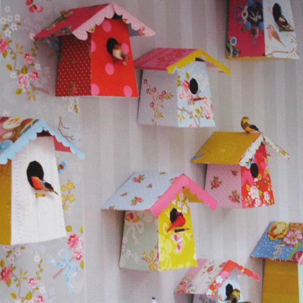 Decorating Paper Crafts For Home Decoration Interior Room: Bird-house-designs-decorating-ideasfor-kids-rooms