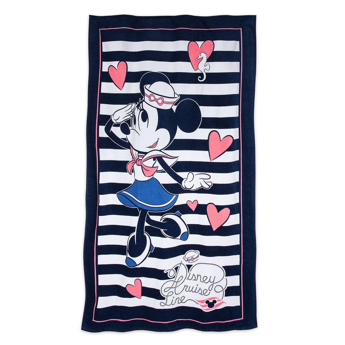 Sailor Minnie Mouse Beach Towel Disney Cruise Line Disney
