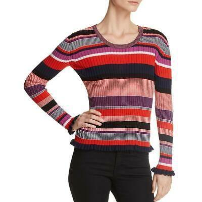 Hugo Boss BOSS Womens Ruffled Hem Knit Pullover Sweater