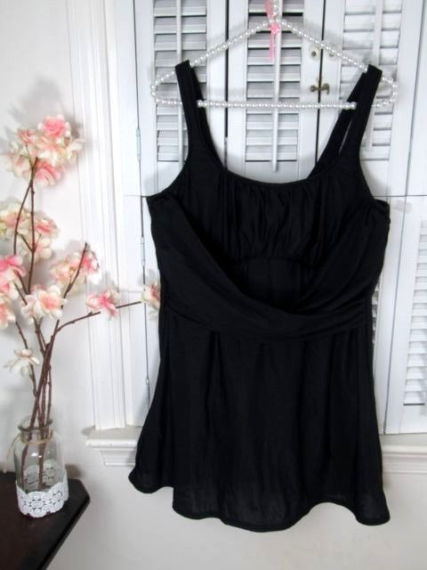 c42af8788d47d Lands End Womens Swimdress plus size 20W Solid Black Underwire | Plus Size Bathing  Suits Swimwear | Pinterest | Solid black, Swimwear and Bathing suits
