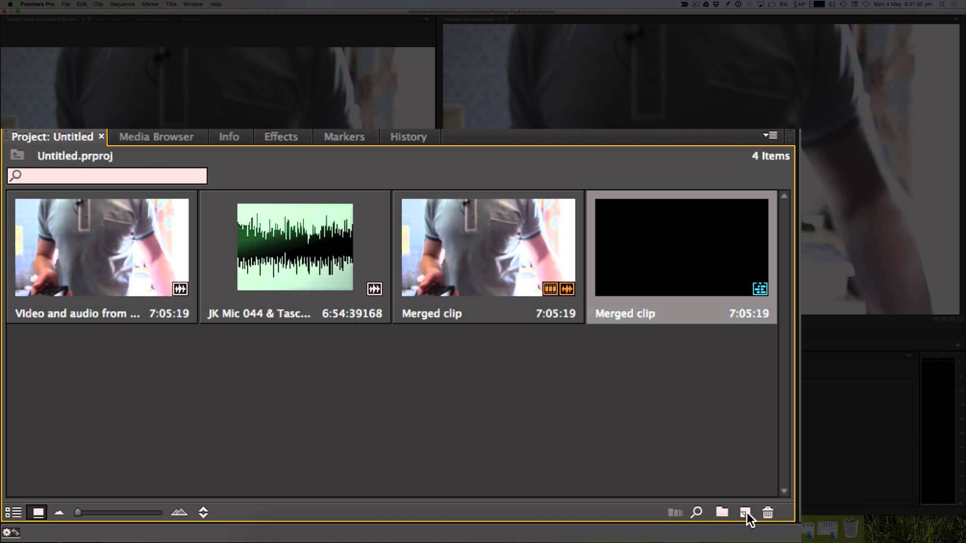 In This Video I Show How To Merge Sync Two Audio Tracks With Adobe Premiere Pro For Example When You Have Your Cameras Built Microphone And A