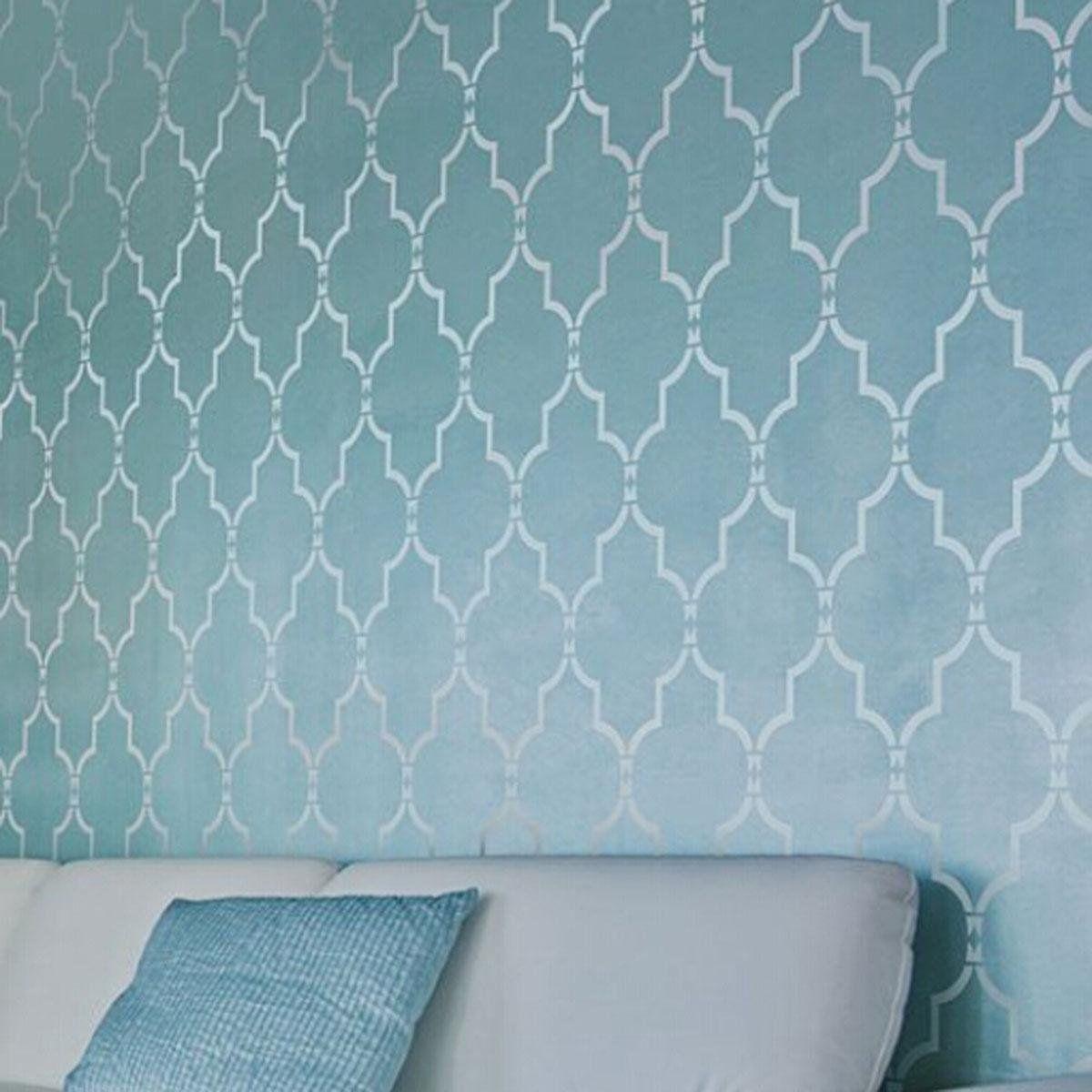 YESURPRISE® New Style Design Trellis Pattern Allover Wall Stencil ...