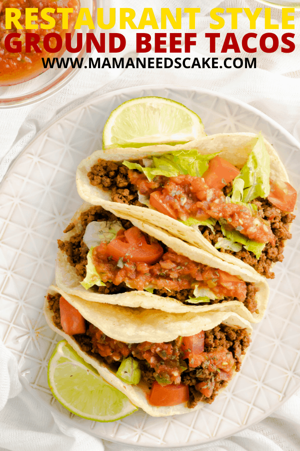 Restaurant Style Ground Beef Tacos Recipe In 2020 Ground Beef Tacos Easy Cooking Recipes Mexican Food Recipes