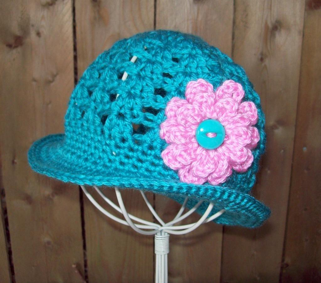 Crochet pattern for baby brimmed sun hat baby hats baby crochet pattern for baby brimmed sun hat bankloansurffo Gallery