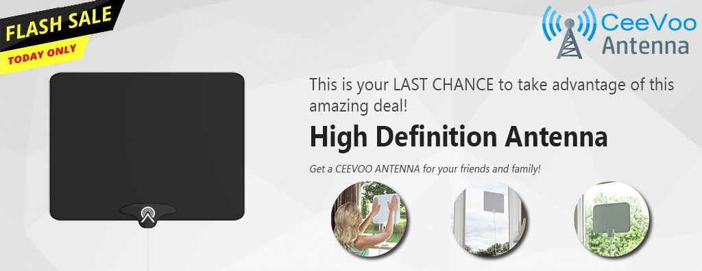 CeeVoo™ HDTV Antenna | Hdtv antenna, Antenna, Hdtv