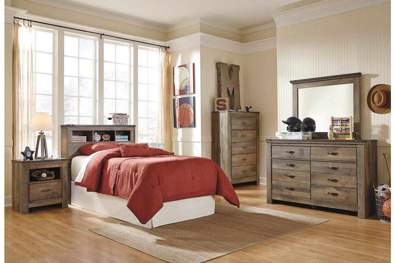 Trinell Twin Bookcase Headboard (With images) Twin