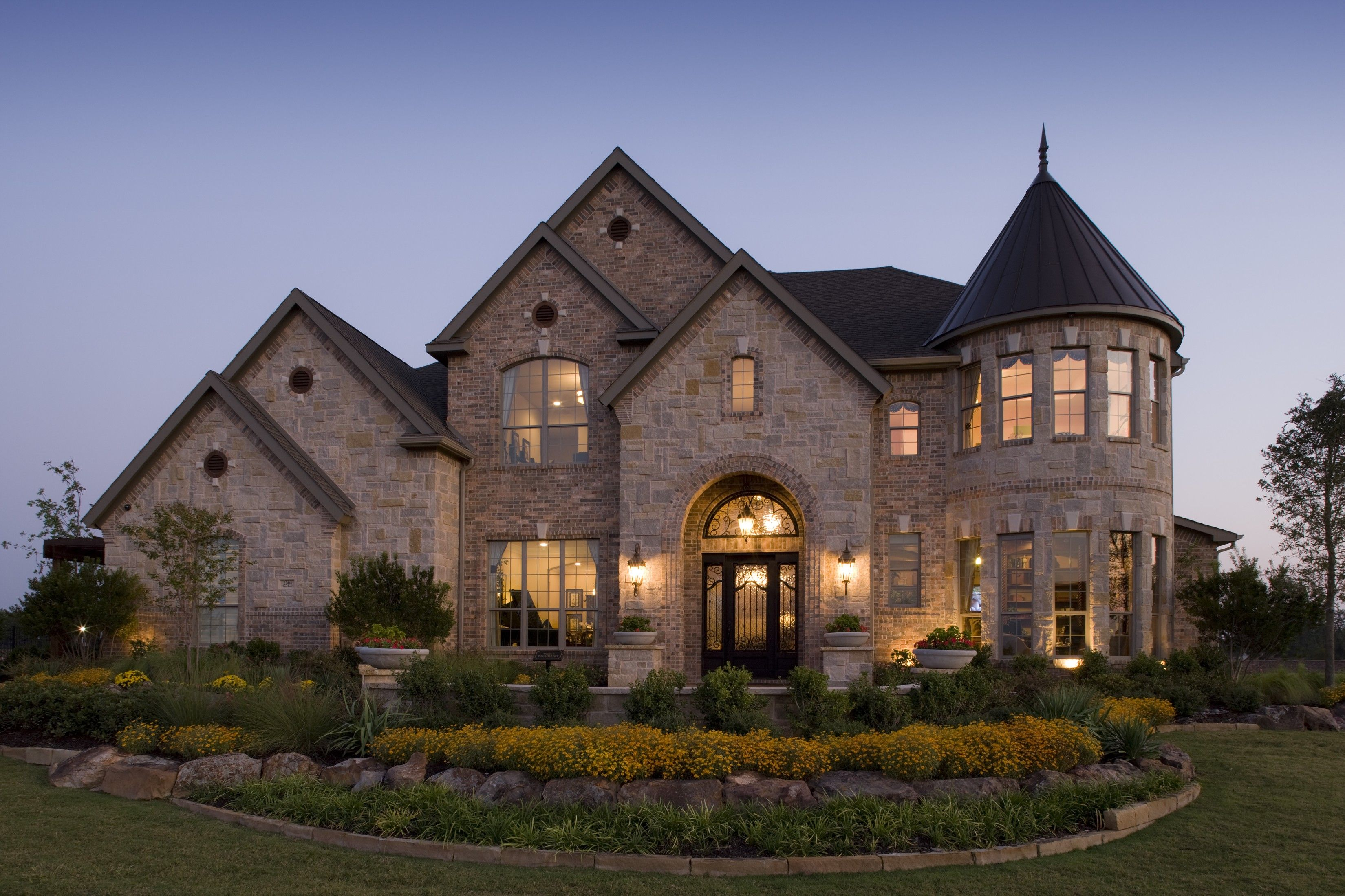 luxury homes exterior brick - Luxury Homes Exterior Brick