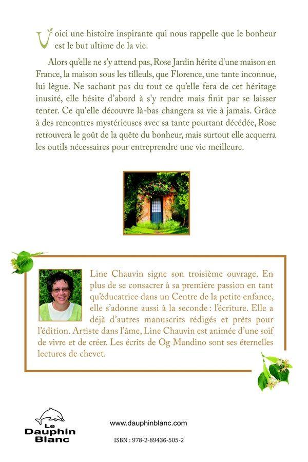 arrière du livre / La Maison sous les Tilleuls / Line Chauvin