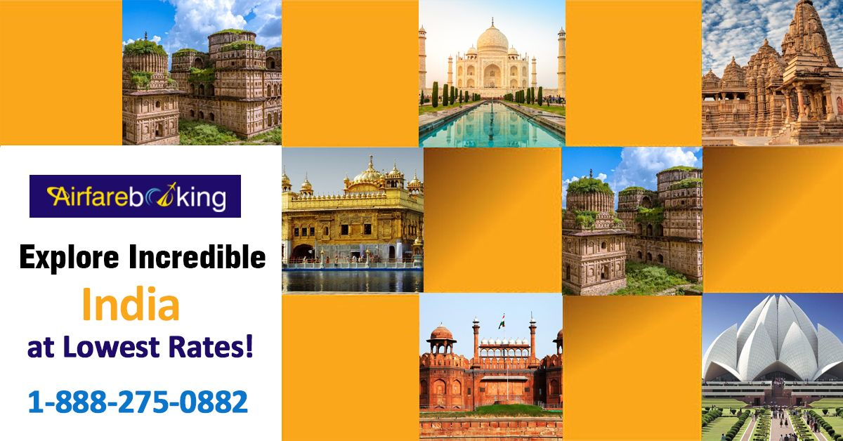 Amazing India Tourism - Book your Incredible India Tour flight tickets online and discover your dream destination with #Airfarebooking.   For more information call us at - 1-888-275-0882 (Toll-Free)  #cheapflightstoindia #cheapflightsonline #CheaplFlights #TravelHacks #FlightDeals #InternationalTravel #flights #Offer #indiatourism #tourandtravel #TravelOffers #Deals #Travel #BookNow