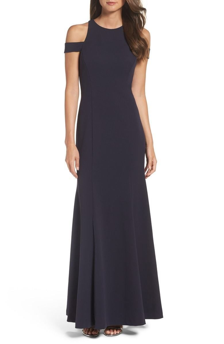 Nwt vera wang formal evening gown long dress luxury cold shoulder