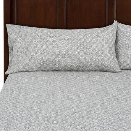 Mainstays Soft Wrinkle Resistant Microfiber Twin//Twin Xl Arctic White Sheet Set