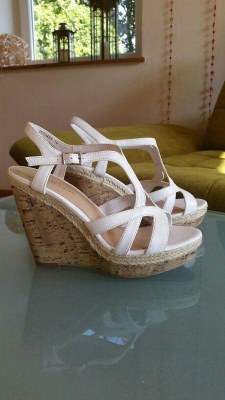 Weiße Keilabsatz Schuhe New Look 37 | Keilabsatz schuhe
