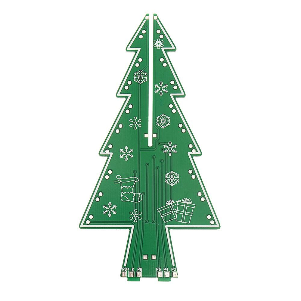 Zuiniubi Diy Led Flash Kit Colorful Light Acrylic Christmas Tree With Music Electronic Learning Kit For More Information Led Diy Light Colors Christmas Tree