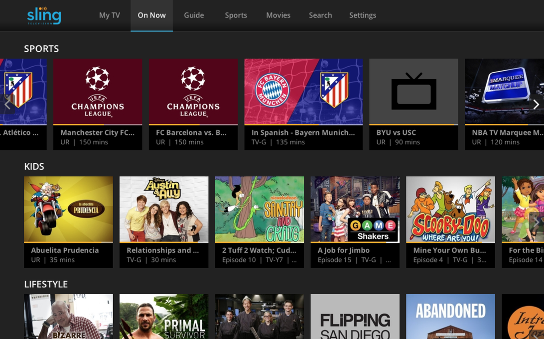 Sling TV Everything you need to know Sling tv, Tvs