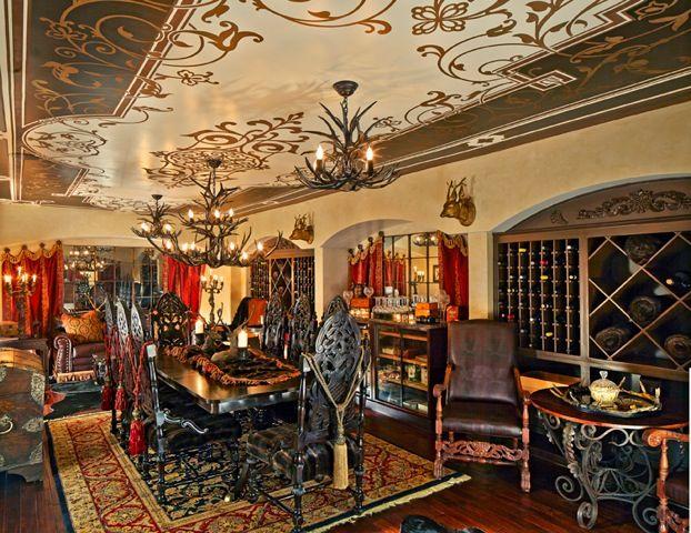 Interior Design Traditional Decorating   Grand Ceiling Designs   Modello  Custom Stencils   Chateau CC118 Painted