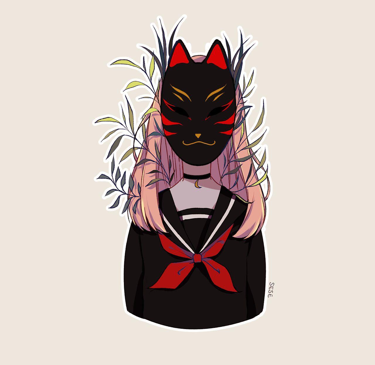 Kitsune in 2020 Anime art girl, Character art, Anime art