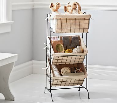 Wire Basket Etagere Wire Baskets Pottery Barn Kids Toy