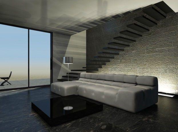 Pavimenti Per Soggiorno Moderno : Pavimento in gres porcellanato effetto marmo nero per ambieni
