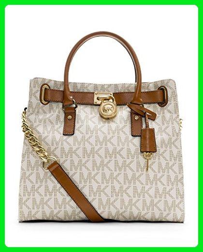 5ca277836fc2 MICHAEL Michael Kors 30F91Hmt3L Hamilton N S Tote (Signature Vanilla) - Top  handle bags ( Amazon Partner-Link)