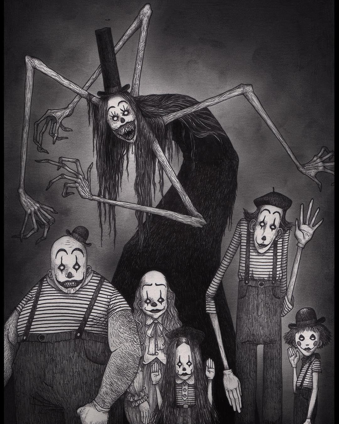 Mimes from hell #johnkennmortensen #donkenn #artwork #drawing #monsters