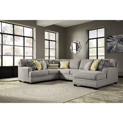 Ashley Furniture Store Kansas City: Cresson Contemporary 4-Piece Sectional With Chaise By