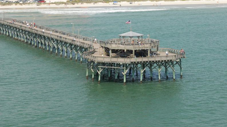 The cherry grove fishing pier in north myrtle beach sc for North myrtle beach fishing