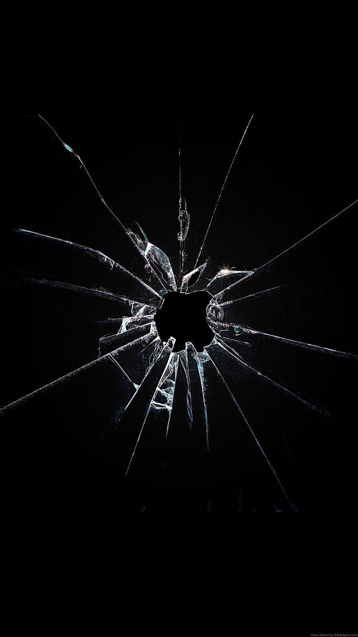 Lock Screen Wallpaper Black Broken Glass Wallpaper Broken Screen Wallpaper Black Phone Wallpaper Iphone xs apple broken screen prank