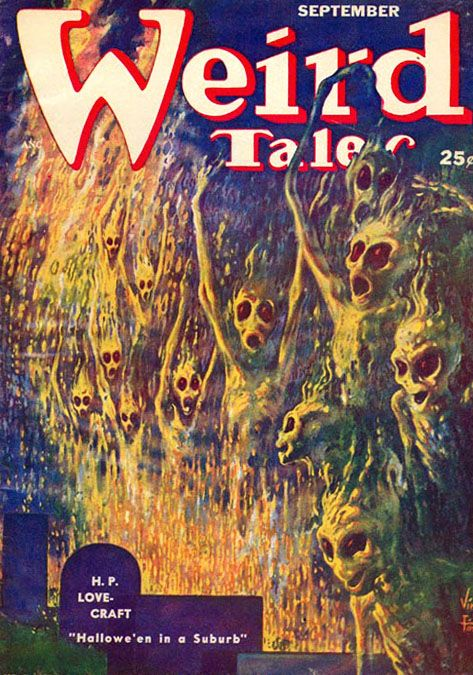 Weird Tales, cover by Virgil Finlay, September 1952
