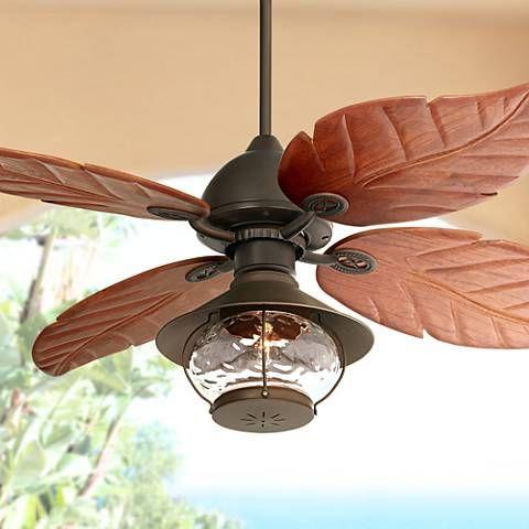 60 Casa Oak Creek Tropical Lantern Damp Rated Ceiling Fan