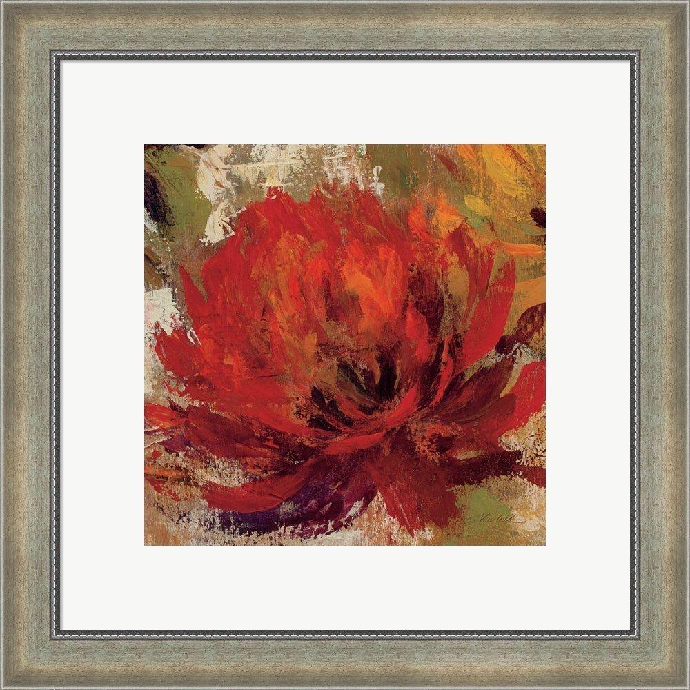 Silvia Vassileva \'Fiery Dahlias II\' Framed Art | Products ...