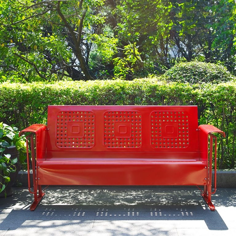 Crosley Bates Sofa Glider In Red Co1016 Re Outdoor Furniture Patio Glider Buy Outdoor Furniture