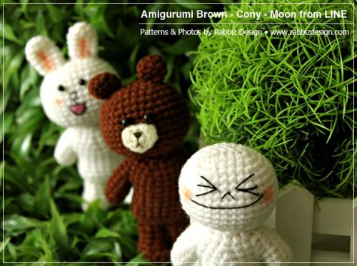 Cony Brown and Moon from LINE byRabbiz Design