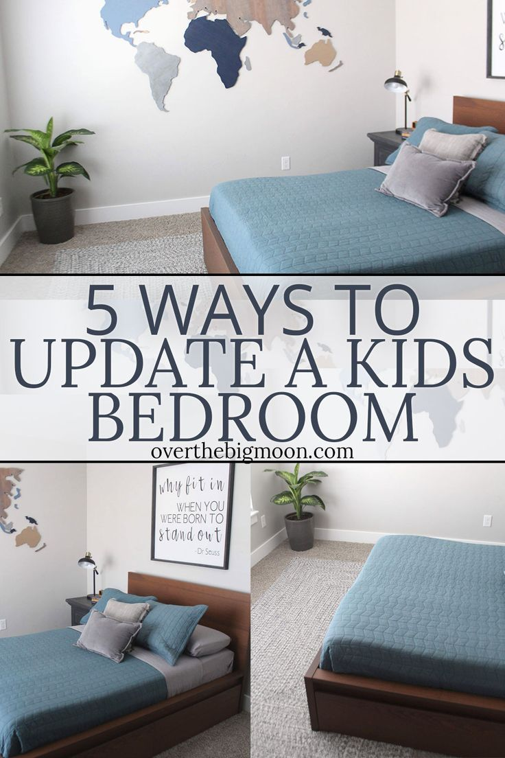 5 Simple Ways to Update a Kids Bedroom is part of Big bedroom Simple - Come learn 5 Simple Ways to Update a Kids Bedroom on a limited budget! These ideas are easy and can be done without breaking the bank!