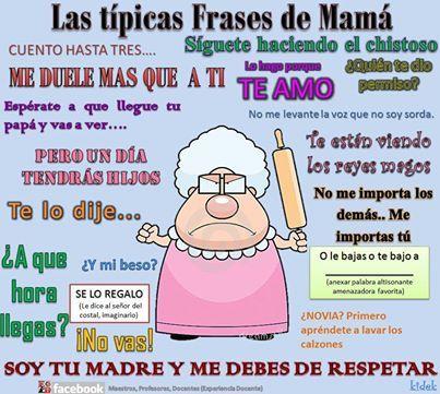Las Típicas Frases De Mamá Experienciadocente